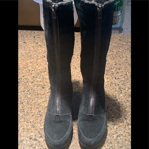 Women's Cole Haan waterproof black boots size 5B